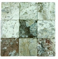 Soci Irish Creme Tumbled 4x4 Field Tile SSK-782
