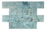 Soci Silver Tumbled 3x6 Subway Tile SSK-783