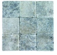Soci Silver Tumbled 4x4 Field Tile SSK-784