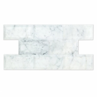 Soho Studio Beveled White Carrara Polished 3x6 Subway Tile