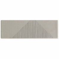 Soho Studio Fragments Grey Pearl 2x8 Subway Tile