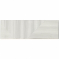 Soho Studio Fragments Light Grey 2x8 Subway Tile