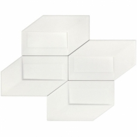 Soho Studio Isometric White Deco 6x10 3D Tile