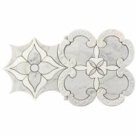 Soho Studio MJ Aeonian Thassos and Carrara Floral Tile