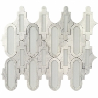 Soho Studio MJ Alcove Superwhite Wht Carrara Arabesque Tile