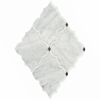 Soho Studio MJ Amina Wht Carrara Wht Thassos Arabesque Tile