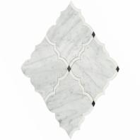 Soho Studio MJ Amina Wht Carrara Wht Thassos Arabesque Tile