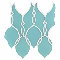 Soho Studio MJ Aquarius Mosaicos Aqua Frosted Arabesque Tile