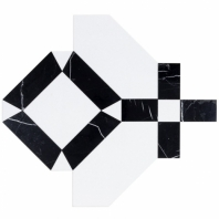 Soho Studio MJ Immaculata Black Jade Crystalized Porcelain Tile