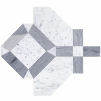 Soho Studio MJ Immaculata White Carrara and Burlington Gray Tile