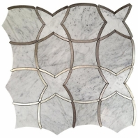 Soho Studio MJ Karma Carrara and Stainless Lines Tile