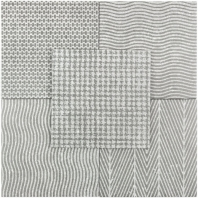 Soho Studio Patchwork Grey 8X8 Fabric Tile