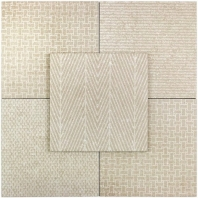 Soho Studio Patchwork Taupe 8x8 Fabric Tile