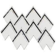 Soho Studio Vanessa Deleon Crystallized Thassos w/ Nero Marquina Tile