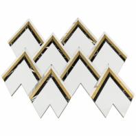 Soho Studio Vanessa Deleon- Crystallized Thassos w/ Nero Brass Tile