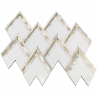 Soho Studio Vanessa Deleon Crystallized Thassos w/ White Gold Tile