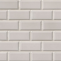 MSI Smoke Beveled Subway Tile