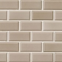 MSI Taupe Beveled Subway Tile