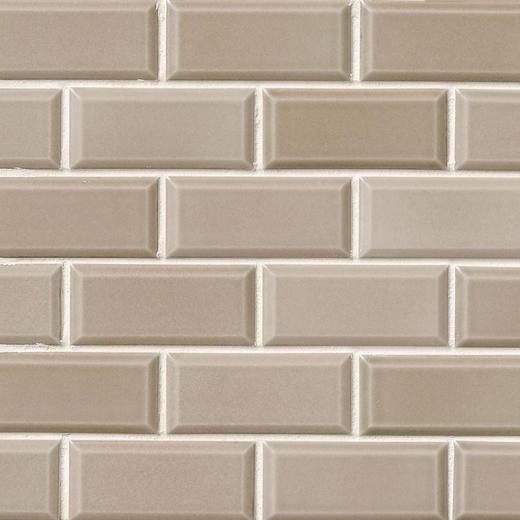 Msi Taupe Beveled Subway Tile Home Decor Az