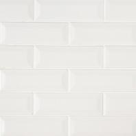 MSI Whisper White 2x6 Beveled Subway Tile