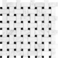 Anatolia Marble Basketweave Polished Bianco Lara AC76-449
