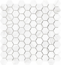 Anatolia Marble 1x1 Hexagon Honed Bianco Lara AC76-455