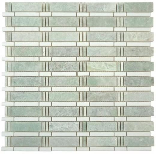 Tile SkylineMing Green Thassos White SL-82