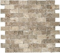 Anatolia Travertine 1x2 Mosaic Noce ACNS216