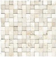 Anatolia Travertine 1x1 Mosaic Ivory Honed ACNS225