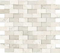 Anatolia Travertine 1x2 Mosaic Ivory Honed ACNS226