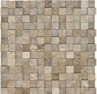 Anatolia Travertine 1x1 Mosaic Noce Honed ACNS230