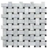 Milstone Bianco Carrara Polished 1x2 Basketweave Tile ML3235030