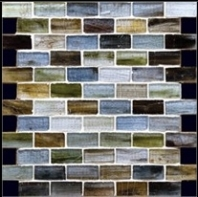 Milstone Mix Color Brick 1x2 Glass Mosaic Tile ML3702550