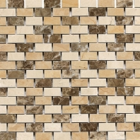 Stone Mosaic Adda Blend Brick Joint Polished Mosaic DA83