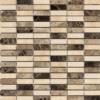 Stone Mosaic Ticino Stacked Joint Polished Mosaic DA84