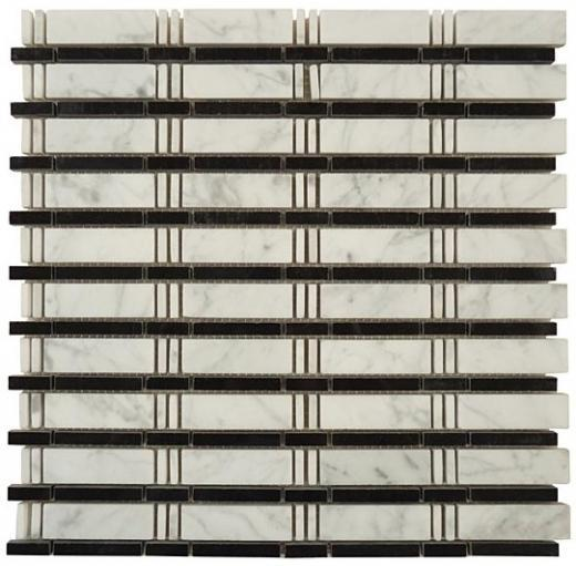 Tile Skyline White Carrara Black SL-86