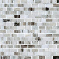 Stone Mosaic Panaro Blend 5/8x1 Brick-Joint Polished Mosaic DA90
