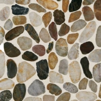 Stone Earthy Blend River Pebble Saw Cut Mosaic DA07
