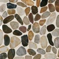 Stone Earthy Blend River Pebble Saw Cut Mosaic DA07