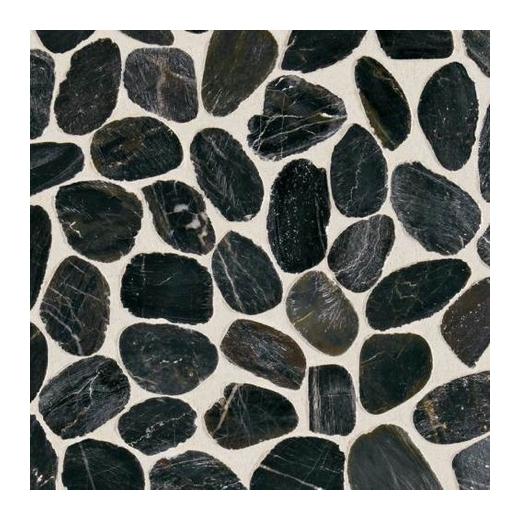Stone Black River River Pebble Mosaic DA05