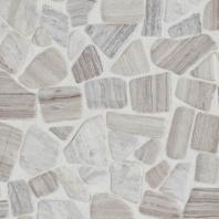 Limestone Chenille White River Pebble Tumbled Mosaic L191