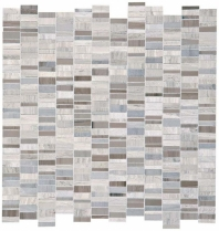 Limestone Chenille White/Silver Screen 1 x Random Mosaic L191