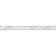 Marble Venetian Calacatta 3/4x12 Pencil Rail Polished M474