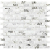 Marble Venetian Calacatta 1/2x1 Brick Joint Mosaic Polished M474