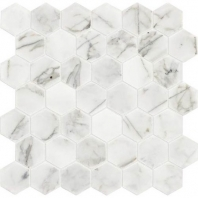"Marble Venetian Calacatta 2"" Hexagon Mosaic Polished M474"