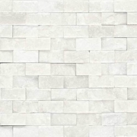 Marble First Snow Elegance 1x2 Split Face Mosaic M190