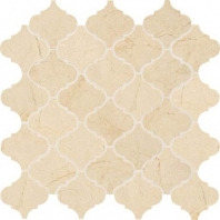 Marble Crema Marfil Classico 3x3 Baroque Arabesque Mosaic M722