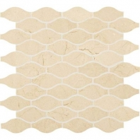 Marble Crema Marfil Classico 3x1 1/2 Marquise Polished Mosaic M722