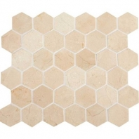 "Marble Crema Marfil Classico 2"" Hexagon Polished Mosaic M722"