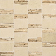 Marble Crema Marfil Classico Abstract Polished Mosaic M722